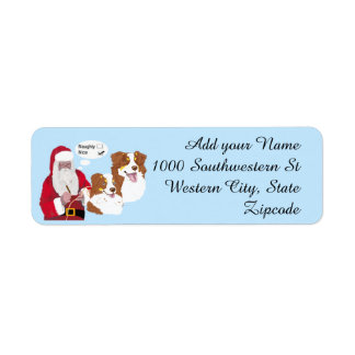 Red Tri Aussies w/ Santa Claus Naughty or Nice Label