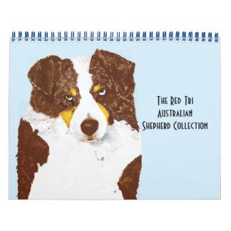 Red Tri Australian Shepherd Calendar