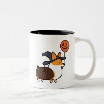 Halloween Themed Red Tri-Color Corgi Halloween Mug | CorgiThings