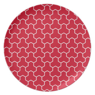 Red Tri-Hex Plate