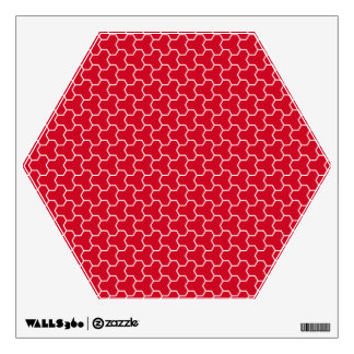 Red Tri-Hex Wall Decal