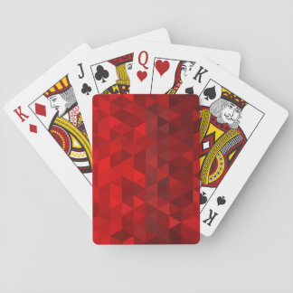 red triangle background abstract geometry pattern poker cards