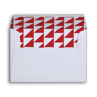 Red Triangle Geometric Envelope Collection