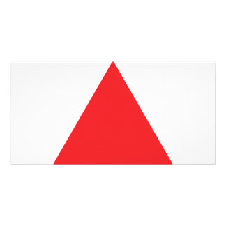 red triangle icon card