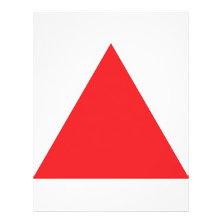 red triangle icon flyer