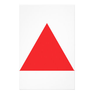 red triangle icon stationery