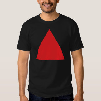 red triangle icon t-shirts