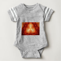 Red Triangle Pattern Baby Bodysuit