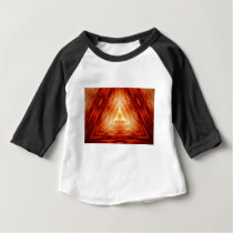 Red Triangle Pattern Baby T-Shirt