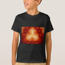 Red Triangle Pattern T-Shirt