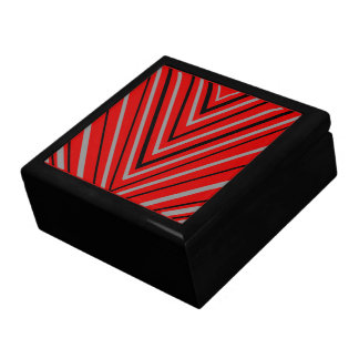 Red Triangles Trinket Box