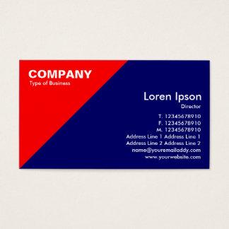 Red Triangular Corner - Dark Blue (000066) Business Card