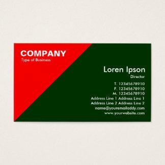 Red Triangular Corner - Dark Green (003300) Business Card