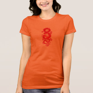 Red Tribal Chinese Dragon T-Shirt