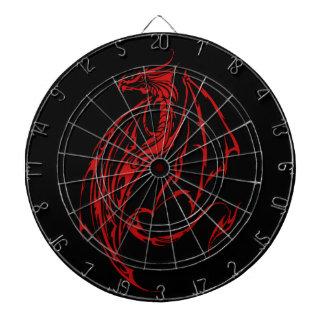Red Tribal Dragon Dart Board