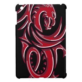 Red Tribal Dragon iPad Mini Covers