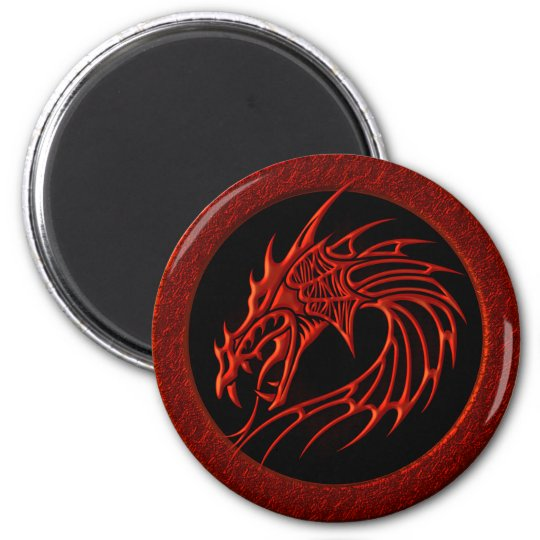 RED TRIBAL DRAGON MAGNET