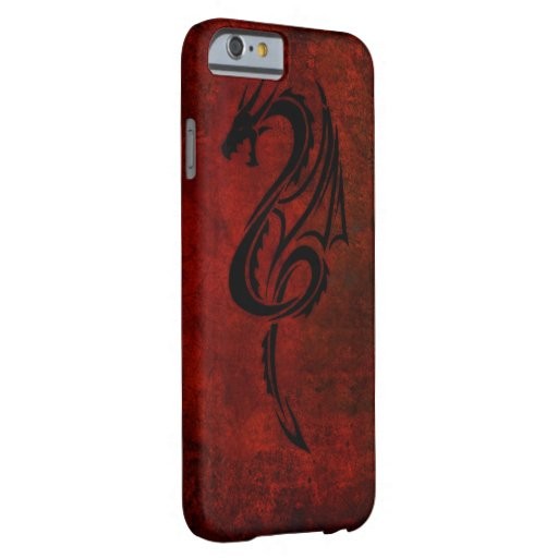 Red tribal dragon tattoo art barely there iphone 6 case for Tattoo artist iphone cases