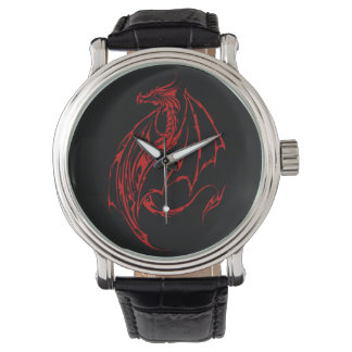Red Tribal Dragon Wristwatch