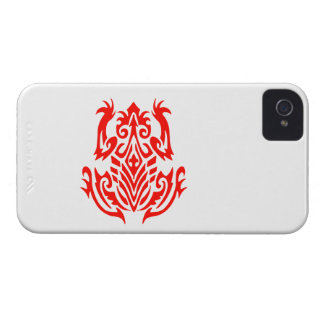 Red Tribal Frog Silhouette Case-Mate iPhone 4 Cases