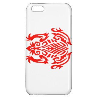 Red Tribal Frog Silhouette iPhone 5C Cases