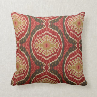 Red Tribal Ikat Accent Pillow