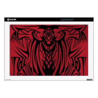 Red Tribal Laptop Skins