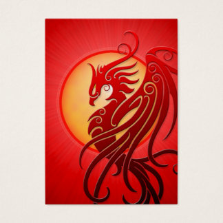 Red Tribal Phoenix Business Card