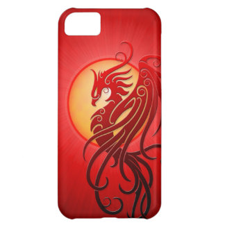 Red Tribal Phoenix Case For iPhone 5C