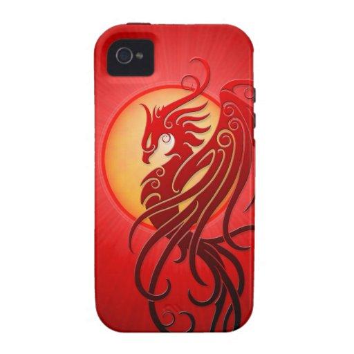 Red Tribal Phoenix iPhone 4/4S Cases