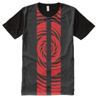 Red Tribal Rally Stripe All-Over Print T-shirt