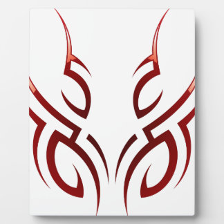 red  tribal tattoo motive plaque