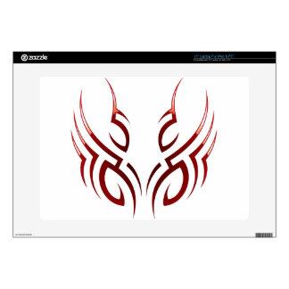 red  tribal tattoo motive skin for laptop