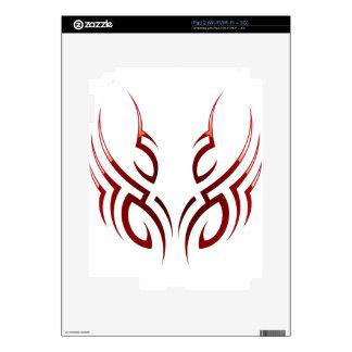 red  tribal tattoo motive skins for iPad 2