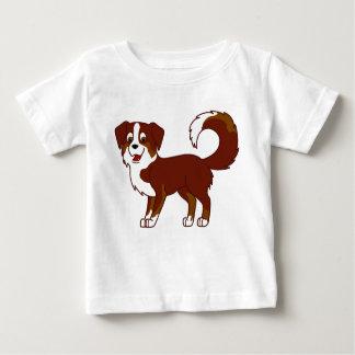 Red Tricolor Australian Shepherd Dog Baby T-Shirt