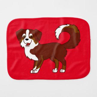 Red Tricolor Australian Shepherd Dog Burp Cloth