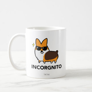 Red Tricolor Corgi Incorgnito Mug