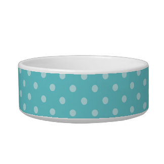 Red Tricolor Polka Dot Happy Corgi Pet Bowl