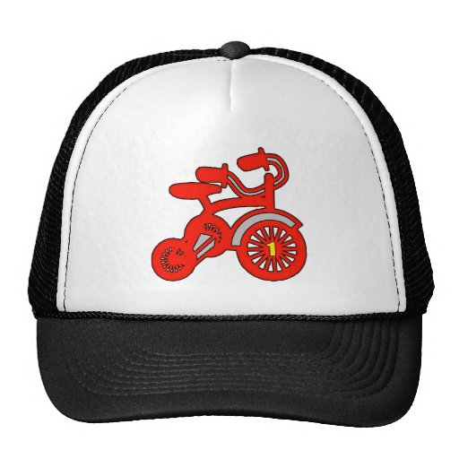 Red Tricycle 1st Birthday Mesh Hats