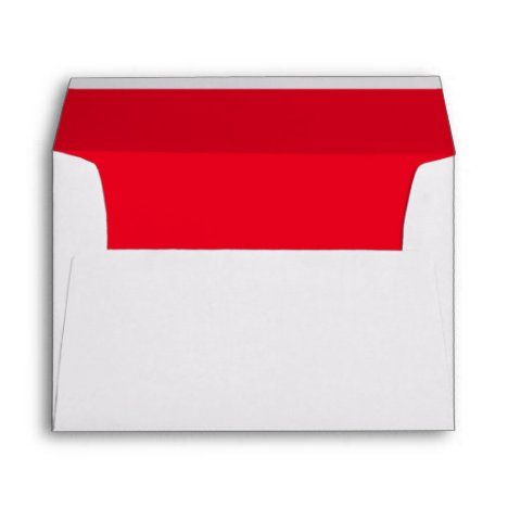 Red Trim Script Typography Return Address Mailing Envelope