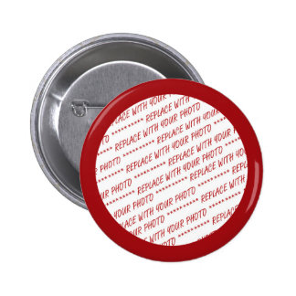 Red Trimmed Photo Template Button