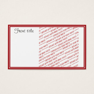 Red Trimmed Template - Add a Photo Business Card