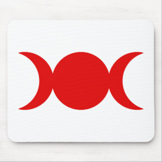 Red Triple Goddess Mouse Pad