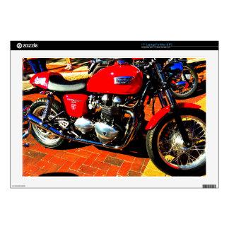Red Triumph Motorcycle Laptop Skin