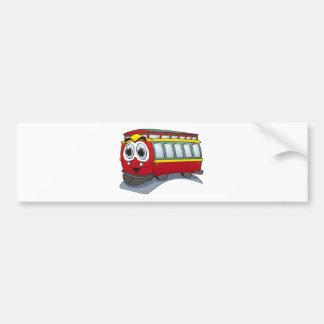 Red Trolley GT  Cartoon Bumper Sticker