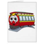 Red Trolley GT  Cartoon Card