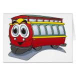 Red Trolley GT  Cartoon Cards