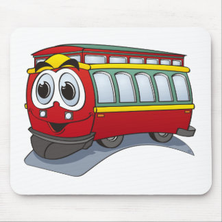 Red Trolley GT  Cartoon Mouse Pad