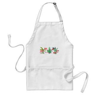Red Tropical Fish in Plants Aprons