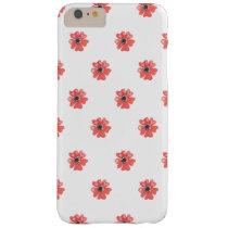 Red tropical flowers pattern barely there iPhone 6 plus case